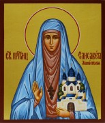 Рукописная икона Преподобная Елизавета (Елисавета)