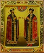 Рукописная икона Борис и Глеб 4