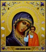 Рукописная Казанская икона с камнями 18