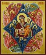 Рукописная икона Неопалимая Купина