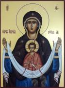 Рукописная икона Покров 10