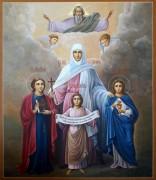 Рукописная икона Вера Надежда Любовь и Мать их София 11
