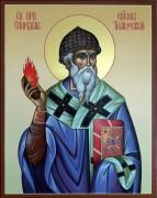 Рукописная икона Спиридон Тримифунтский 10