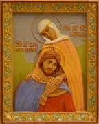 Резная икона Петр и Феврония 21 (Размер 26*32 см)