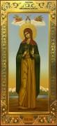 Мерная икона София Римская с резьбой
