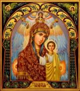 Рукописная Казанская икона Пресвятой Богородицы масло 20 (Размер 27*31 см)