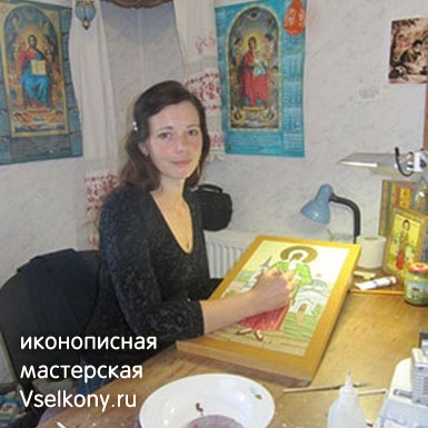 Иконописная мастерская VseIkony.ru за работой над иконами