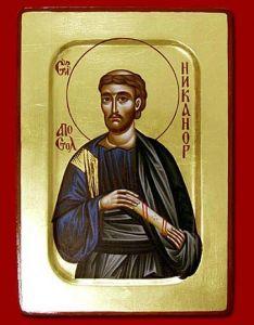 Рукописная икона Апостол Никанор