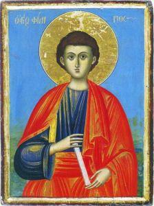 Рукописная икона Апостол Филипп