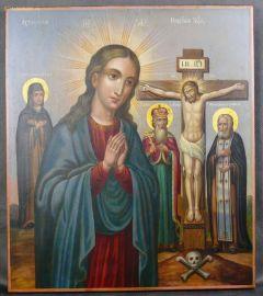 Рукописная Ахтырская икона Божией Матери