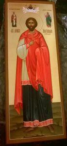 Рукописная икона Святой Александр Египетский