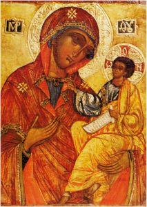 Рукописная икона Бельская