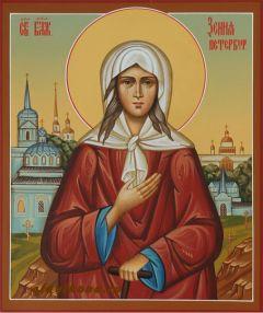 Рукописная икона Святая Блаженная Ксения Петербургская