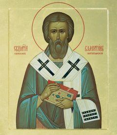Рукописная икона Валентин Интерамский