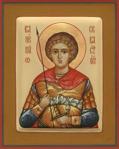 Рукописная икона Валерий Севастийский