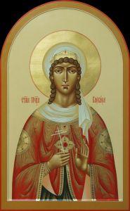 Рукописная икона Варвара Илиопольская