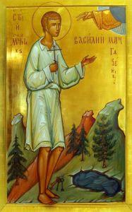 Рукописная икона Василий Мангазейский
