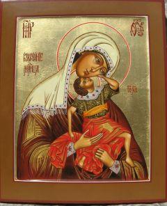 Рукописная икона Взыграние младенца