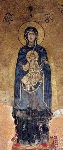 Рукописная икона Гаенатская Божия Матерь