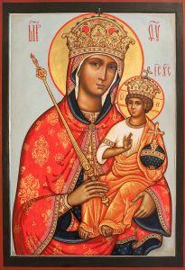 Рукописная икона Галатская