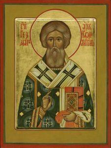 Рукописная икона Герман Константинопольский