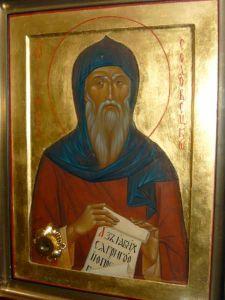 Рукописная икона Герман Соловецкий