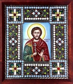 Икона из финифти Валерий Мелитинский