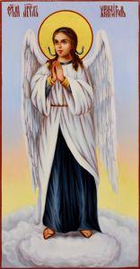 Рукописная икона Ангел Хранитель масло 31 (Размер 13*25 см)