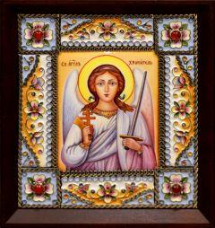 Икона из финифти Ангел Хранитель 4 (Размер 14*16 см)