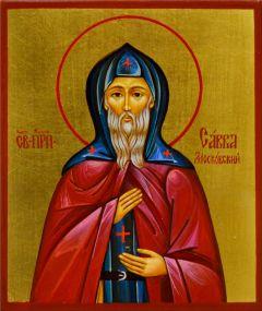 Рукописная икона Савва Московский