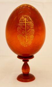 Пасхальное яйцо рукописное икона Сладкое Лобзание