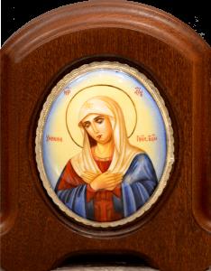 Икона из финифти Умиление Богородицы 7 (Размер 11*14 см)