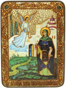 Икона ручной работы Ирина Каппадокийская с камнями