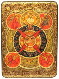 Икона ручной работы Всевидящее Око с камнями