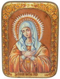 Икона ручной работы Божией Матери Умиление