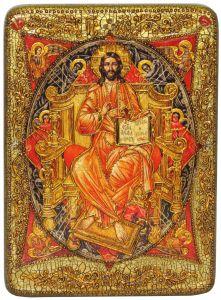 Икона Спас в силах с камнями