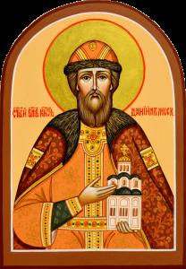 Рукописная икона Даниил Московский 3 арка (Размер 9*13 см)