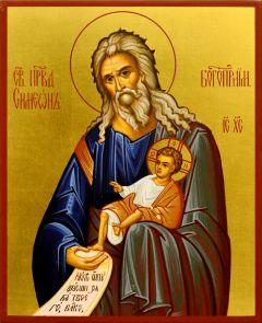 Рукописная икона Симеон Богоприимец