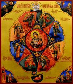Рукописная икона Неопалимая Купина 14