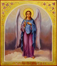 Рукописная икона Ангел Хранитель масло 67 (Размер 27*31 см)