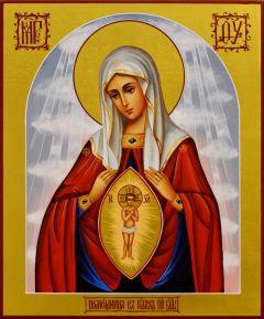 Рукописная икона Помощница в Родах 4 (Размер 17*21 см)