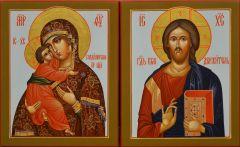 Рукописная венчальная пара Владимирская 78 (Размер 13*16 см)