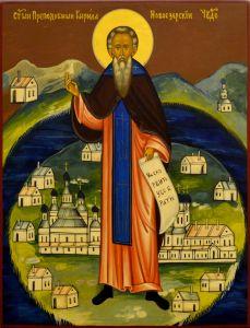 Рукописная икона Кирилл Новоезерский (копия иконы 19 века)