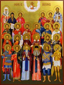 Рукописная икона Собор святых Максимов