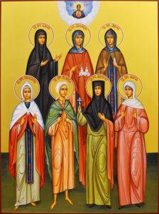 Рукописная икона Дивеевские Жены