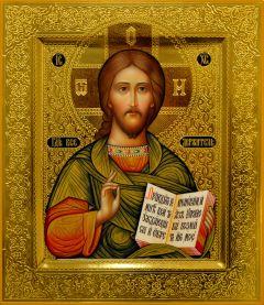 Рукописная икона Спас Вседержитель 35 (Размер 27*31 см)