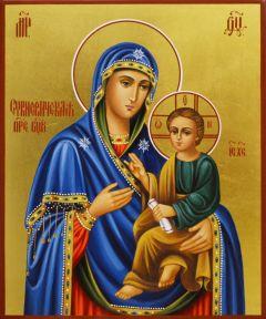 Рукописная икона Сукневичская