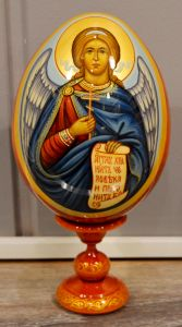 Пасхальное яйцо рукописное Ангел Хранитель 2