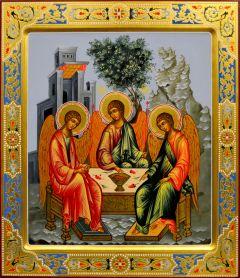 Рукописная икона Святая Троица 19