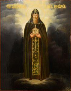 Рукописная икона Даниил Московский масло 4